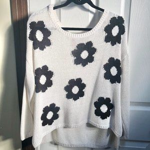 H&M Flower cableknit sweater